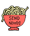 JV by Jac Vanek Send Noods Sticker