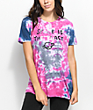 JV by Jac Vanek Space Is The Place camiseta rosa y morrada con efecto tie dye