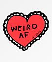 JV by Jac Vanek Weird AF pegatina