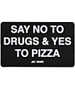 JV by Jac Vanek Yes To Pizza sticker en negro