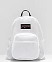 JanSport Half Pint FX mini mochila blanca translúcida