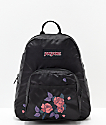 JanSport Half Pint FX mini mochila satinada con rosas