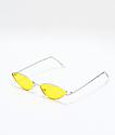 Jenna gafas de sol en amarillo y plata