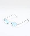 Jenna gafas de sol en azul y plata