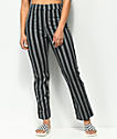 Jolt Jilden Black & White Stripe Crop Pants