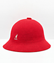 Kangol Bermuda Casual sombrero de cubo rojo