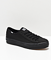 Keds Triple Kick Black Canvas Shoes