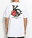 Key Street Flora camiseta blanca