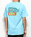Killer Acid 420 Cat camiseta azul