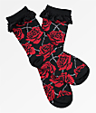 Killstar Eden Rose calcetines tobilleros en negro