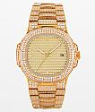 King Ice Quad reloj de oro 14k