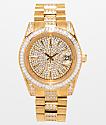 King Ice Royal CZ reloj de oro 14k