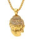 King Ice collar oro cara Buddha