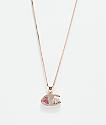 King Ice x Champion Heritage collar con colgante de oro rosa para mujeres