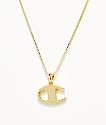King Ice x Champion collar con colgante de oro para mujeres
