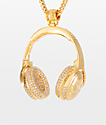 King Ice x Snoop Dogg Headphones Pendant Necklace