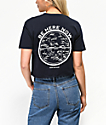 Know Bad Daze Be Here Now Navy Crop T-Shirt
