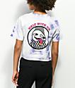 Know Bad Daze Melt camiseta corta con efecto tie dye de color lavanda