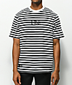 LRG Bar Tab Black & White Striped T-Shirt