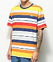 LRG Brilliant Youth camiseta a rayas coloridas