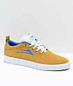 Lakai Bristol Gold & Blue Suede Skate Shoes