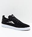 Lakai Bristol zapatos de skate de ante en negro y blanco