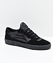 Lakai Cambridge All Black Suede Skate Shoes