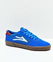 Lakai Cambridge Blue & Gum Suede Skate Shoes