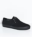 Lakai Daly All Black Nubuck Skate Shoes