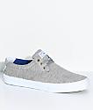 Lakai Daly Grey & Heather White Skate Shoes