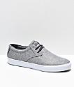 Lakai Daly Grey & White Textile Skate Shoes