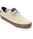 Lakai Daly Tan & Gum Suede Skate Shoes
