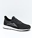 Lakai Evo Black & Grey Woven Knit Shoes