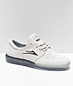 Lakai Fremont White & Crystal Suede Skate Shoes