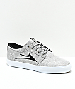 Lakai Griffin Grey & Black Melange Skate Shoes