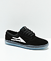 Lakai Griffin XLK Black & Crystal Suede Skate Shoes
