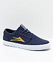 Lakai Griffin zapatos de skate de lienzo en azul marino, dorado y blanco