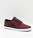 Lakai Griffin zapatos skate de textil borgoño
