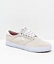 Lakai Porter White Suede Skate Shoes