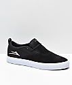 Lakai Riley Hawk II Black & White Skate Shoes