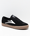 Lakai Sheffield Black & Gum Suede Skate Shoes