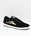 Lakai Sheffield XLK zapatos de skate de ante en negro y oro