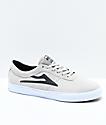 Lakai Sheffield zapatos de skate de ante en blanco y negro