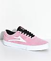 Lakai Sheffield zapatos de skate de ante en rosa y blanco