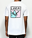 Lakai x Leon Karssen Lazy Cat camiseta blanca