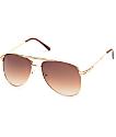 Light Brown Aviator Sunglasses
