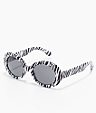 Lithium Zebra Round Clout Sunglasses