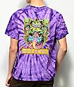Loser Machine Cosmic Cobra camiseta morada con efecto tie dye