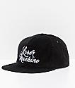 Loser Machine Majestic gorra negra de pana