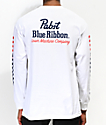 Loser Machine x PBR Finish Line White Long Sleeve T-Shirt